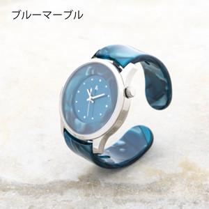 腕時計 鯖江バングルウォッチ【ビッグフェイス】ブルーマーブル