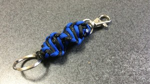 DNA2重螺旋 パラコードキーホルダー青
