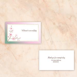 NC06【セミオーダー】結婚式/席札 桜デザイン