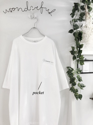 【10日再入荷】connecter Tokyo  original  big pocket tee(white)