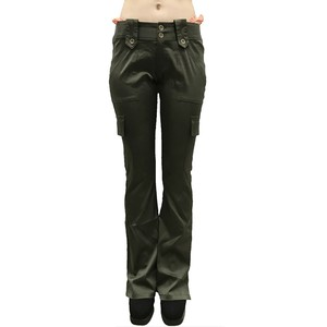 Super Low-rise Shiny Cargo pants  'Aaliyah' with FAKE G-string/A