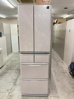 中古 良品 シャープ 5ドア冷蔵庫 大型冷蔵庫 424L プラズマクラスター フレンチドア