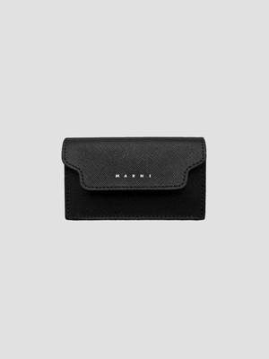 MARNI BUSINESS CARD CASE BLACK/BLACK PFMI0046U0LV520Z356N