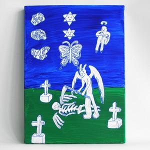 『ナカノマサト』painting on canvas