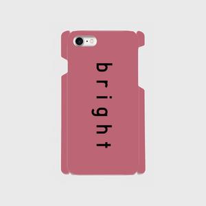 【スマホケース・ツヤ無し 側表面印刷】bright・Pink × Black