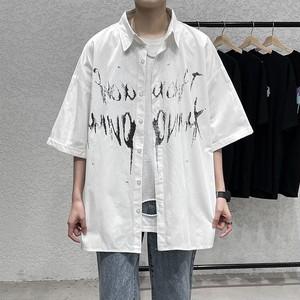 レタリングペイントシャツ BL8882