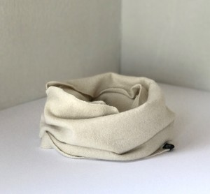 カシミヤスヌード【 Pure cashmere snood  Ivory 】