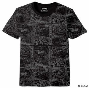 セガ・ハード・ガールズ x ドリームキャスト Comic`s Tシャツ -BLACK- / GAMES GLORIOUS
