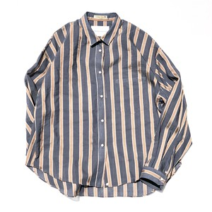 Yutori Shirts/NAVY-ORANGE