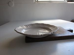 南仏 ムスティエ 花リム 大皿 32.5cm