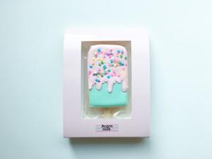 アイスキャンディークッキー ピンク×エメラルド