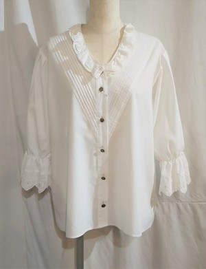 Double lace collar tyrol blouse [O-14]