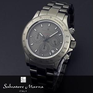 【Salvatore Marra サルバトーレマーラ】10周年記念モデル セラミッククロノグラフ腕時計 SM12117-GY
