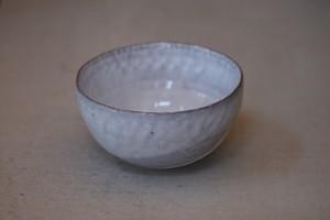 村上躍 65.藁灰釉白砂化粧鉢