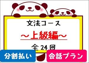 毎月払い★文法コース【会話プラン】~上級編~