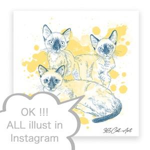 """Instagramの猫イラストで作るアートパネル""猫雑貨"