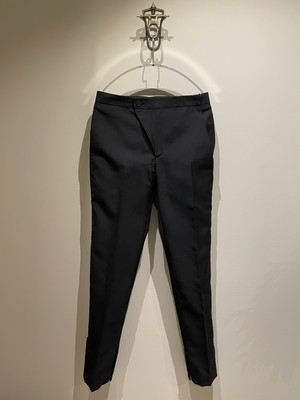 VEIN 21ss WO/MO TROPICAL LAYERED TROUSERS BLACK ヴェイン