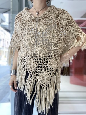 hand knitted cape
