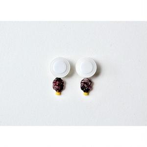 tiravisù【 vintage  purple flower _ earring 】vintage / handmade / イヤリング / japan