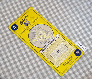【Vintage/Used品】1962 MICHELIN MAP No.4 ベルギー南部 MONS-LUXEMBOURG /0102