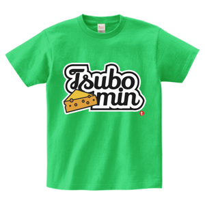 TSUBOMIN / CHEESE & LILY SCRIPT LOGO T-SHIRT BRIGHT-GREEN