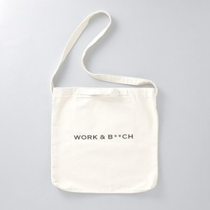 A STORE ROBOT for GIRLIN'  ::: WORK & B**CH :::  キャンバス ショルダーバッグ (WHITE)