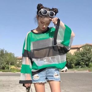 【即納】loose stripe sunscreen