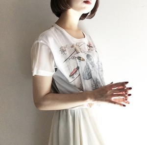 CaNARi original remake see-through tee