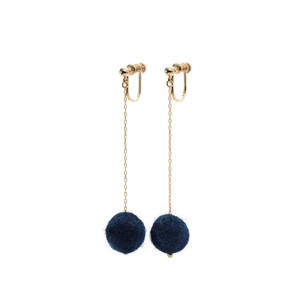 Felt Ball Clip-on Earrings