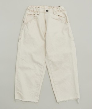 MOUN TEN.  widecropped pants (ecru)110 125 140 [MT201011-a]