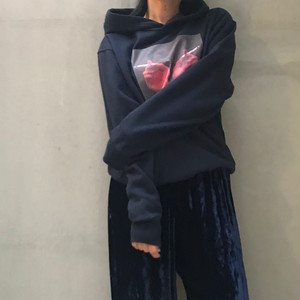 cigarette photo hoodie - Navy