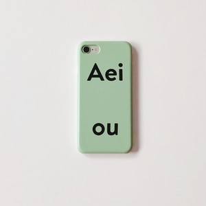[Aeiou] Hard iPhone case -pale blue green  (7/8,X/Xs,XR,11,11pro)