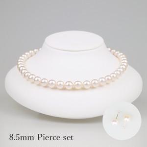 薄桜85P-set(Usuzakura)【Akoya8.0-8.5mm】Necklace & Pierce Set