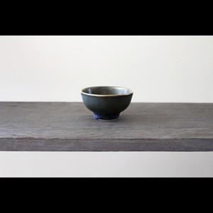 陶芸作家【中川智治 Potter Ash Field】ぐい呑  Sake  Cup(Blue×BLK×Gold)