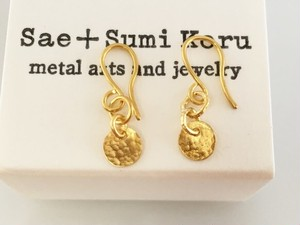 K24 Pure Gold Classic Earrings◇純金のクラシックピアス◇揺れるピアス (両耳分)