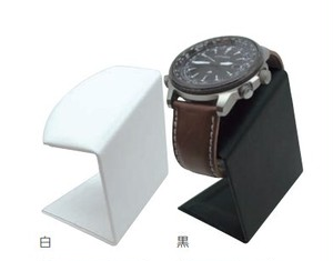 腕時計用スタンド 平置きタイプ 合皮貼り AR-1977