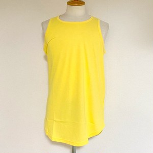 Long Length Tank Top(round model) Yellow