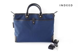 インディード|INDEED|ペルトゥッティ|PER TUTTI da INDEED|ナイロン×レザー2WAYビジネスバッグ|ネイビー