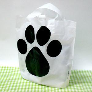 【5枚セット】巨大肉球ショッピング袋(大)