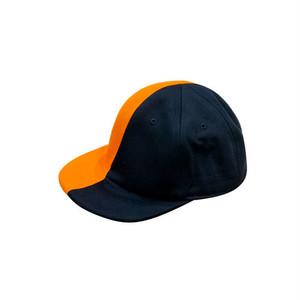 HALF-HALF/orange x navy