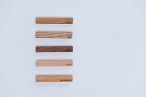 日本の木の箸置き(5個セット)