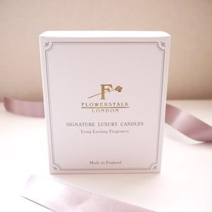 夏限定価格アロマキャンドル/スズラン Flowerstalk of London【正規品】英国製 シグネチャーラグジュアリーキャンドル