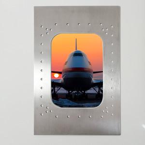【送料無料】【飛行機廃材】窓枠風フレーム