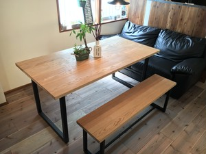Oak Dining Table (square leg)
