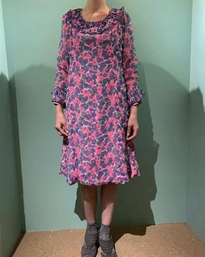 ニューヨークのヴィンテージ花柄ドレス 289