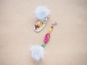 【8PC-84】objet sayoko × CHIYO押し花コラボアクセサリー