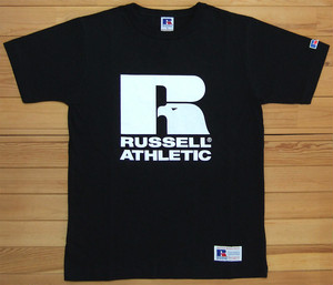 RUSSELL ATHLETIC Bookstore Jersey Print Crew Neck TEE ブラック ラッセルアスレティック Tシャツ ロゴ プリント カットソー 半袖 RC-1001PT