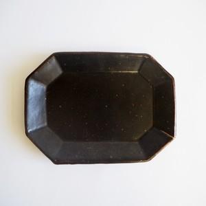 8 square plate black