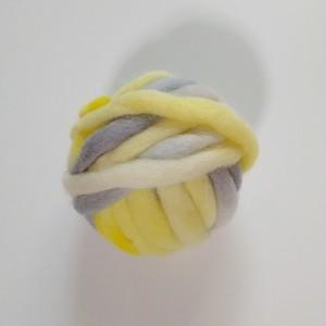 手染め糸 レインボー染め極太ウールスラブヤーン 20g GB006