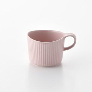 線彫 ピンク マグカップ小
